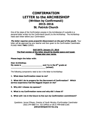 Confirmation Letter Template Doc