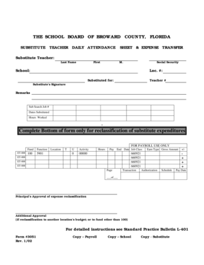 28 Printable Daily Attendance Sheet Forms and Templates