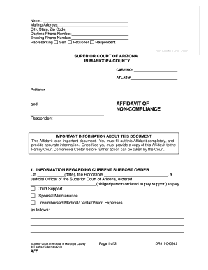 Blank Arrest Warrant Template Affidavit