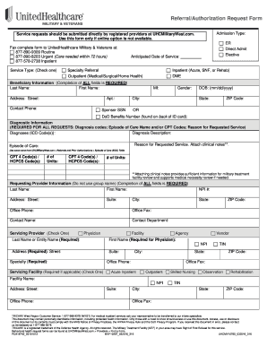 United Healthcare Military  Fill Online Printable