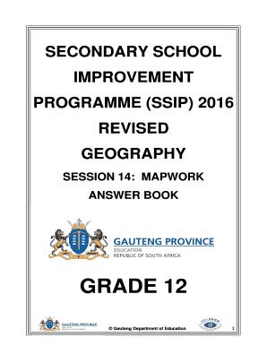 Geography Grade 12 Gauteng Secondary School Improvement