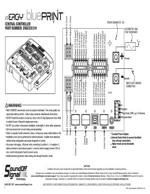 Fillable Online central controller part number: engcc01241