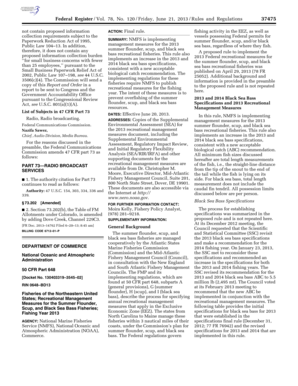 Fillable Online nero noaa Federal Register/Vol. 78, No