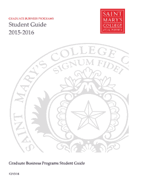 Fillable Online Graduate Business Programs Student Guide
