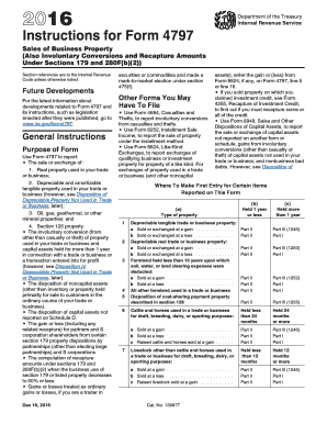 2017 Form IRS Instruction 4797 Fill Online, Printable
