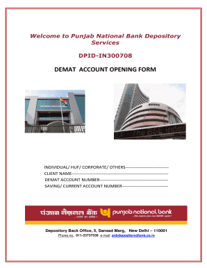 Pnb Demat Account Fill Online Printable Fillable Blank Pdffiller