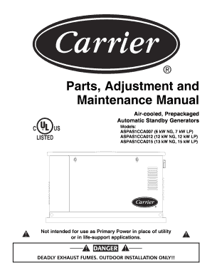 Fillable Online Parts, Adjustment and Maintenance Manual