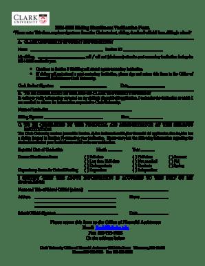 Fillable Online clarku 2005-2006 Sibling Enrollment