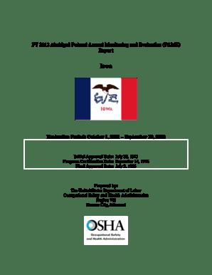Fillable Online osha FY 2012 Abridged Federal Annual