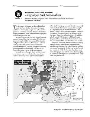 Geography Application Movement Languages Fuel Nationalism