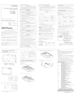 Fillable Online GT15 BUS CONNECTION UNIT User's Manual. IB