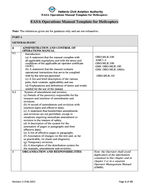 Businesses use standard operating procedures to document the steps needed to deliver or complete specific processes or tasks. Easa Operations Manual Template Fill Online Printable Fillable Blank Pdffiller