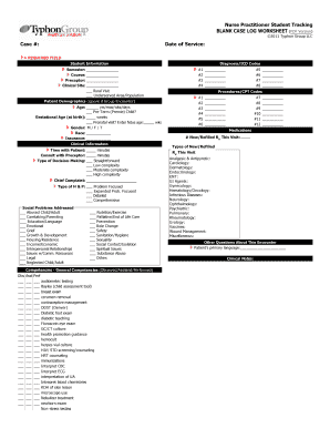 Fillable Online Nurse Practitioner Student Tracking BLANK