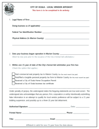 Fillable Vendor s affidavit form and Templates to Submit ...