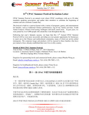 canada invitation letter fill online