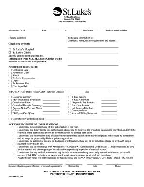 Release Form Hospital Professional Resume Cv Maker