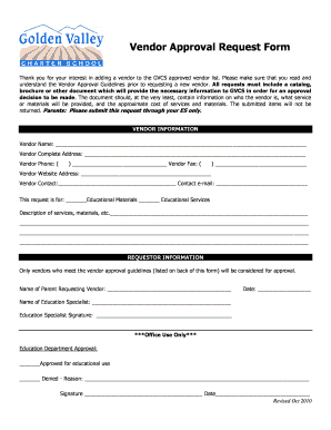 Once you begin typing, the form field shading box should disappear and your text should overwrite the information text. Vendor Approval Form Fill Online Printable Fillable Blank Pdffiller