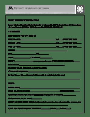 Fillable Online Central Area 4-H Horse Camp Registration