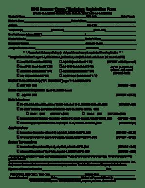 Fillable Online Summer Camp / Workshop Registration Form