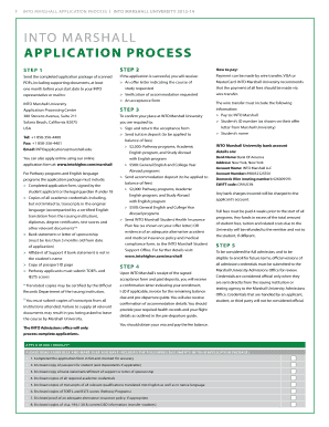 Fillable Online INTO MARSHALL APPLICATION PROCESS Fax Email Print  PDFfiller