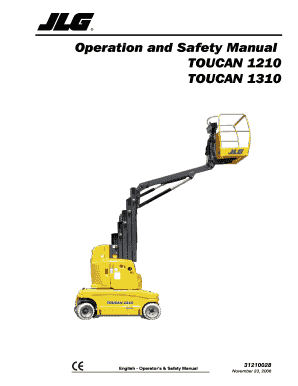 Fillable Online Operation and Safety Manual TOUCAN 1210