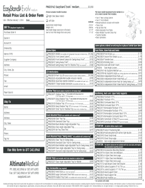 Fillable Online medium Retail Price List & Fax Email Print