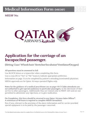 Qatar Airways Pregnancy Medical Form - Fill Online, Printable ...