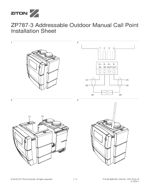 Fillable Online ZP787-3 Addressable Outdoor Manual Call