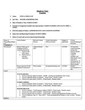 Employee Handover Notes Template - Sample Handover Report After Resignation - Tutore.org - Dedicated Server