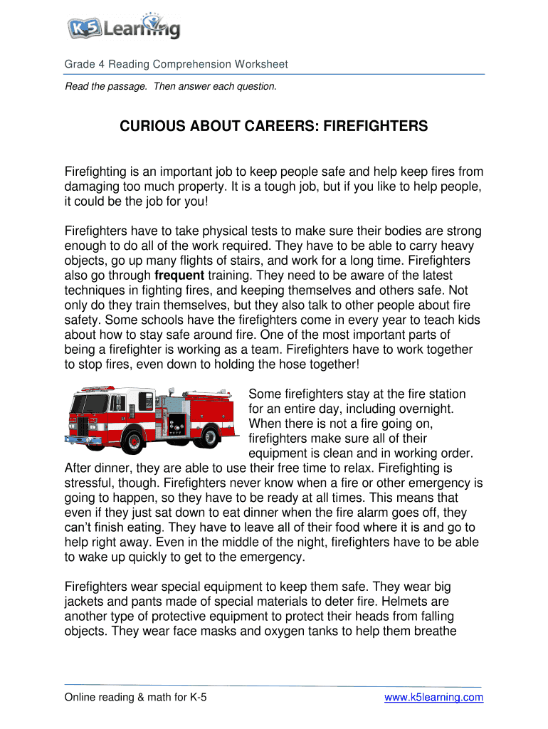 hight resolution of Fillable Online k5 learning curious about careers firefighters form Fax  Email Print - PDFfiller