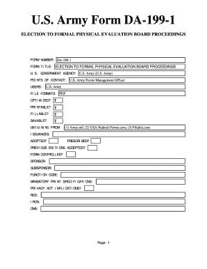 Da Form 199 Fill Online Printable Fillable Blank