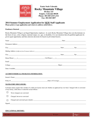 Fillable Online Easter Seals Colorado Fax Email Print