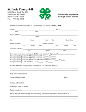 Fillable Online stlucie ifas ufl St. Lucie County 4-H