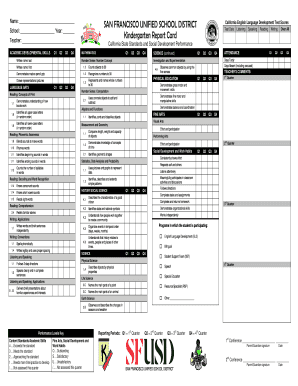 27 Printable Grade Year Report Card Forms and Templates
