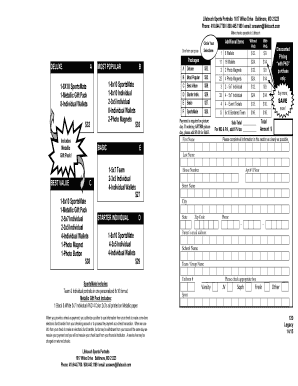 Lifetouch Sports Order Form