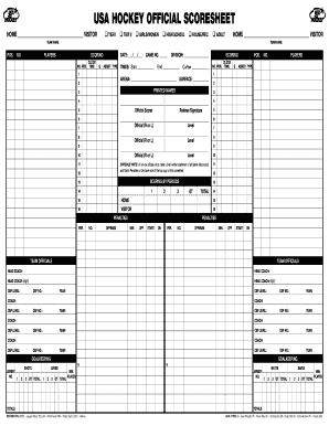 USA HOCKEY OFFICIAL SCORESHEET Fill Online, Printable