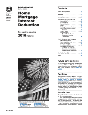 2016 Form IRS Publication 936 Fill Online, Printable