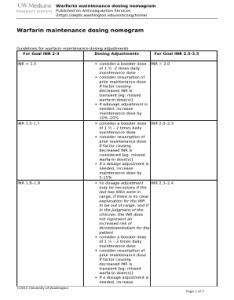 Editable warfarin dosage chart pdf fill out  print forms download in word diabetesmanagementsheetweb also rh