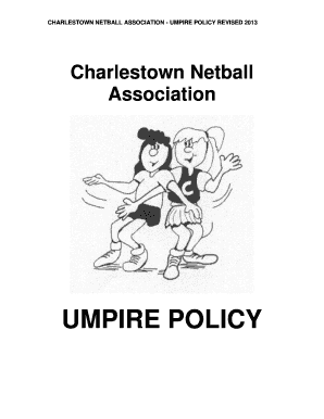 Get what do netball umpires wear PDF Form Samples to Fill