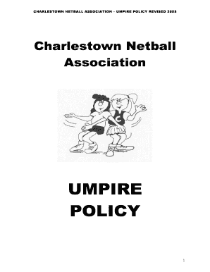 Get netball umpire set PDF Form Samples to Fill Online