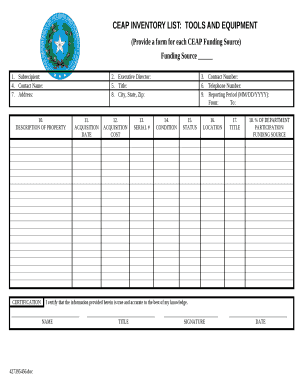 Anyone who has ever worked in retail has heard the term inventory. Tools Inventory Doc Template Pdffiller