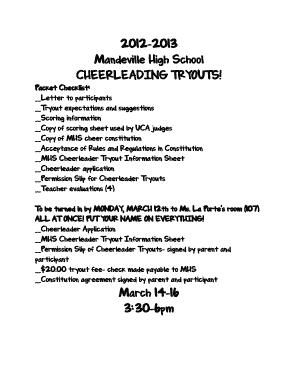 2012-2013 Mandeville High School CHEERLEADING TRYOUTS bb
