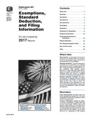 2017 Form IRS Publication 501 Fill Online, Printable