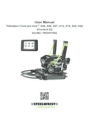 Fillable Online Tiltrotator Front pin lock X04, X06, X07