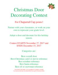 Christmas Door Decorating Score Sheet | Psoriasisguru.com
