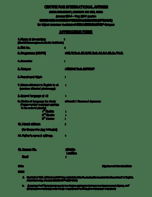 Fillable Online annauniv Centre for international affairs