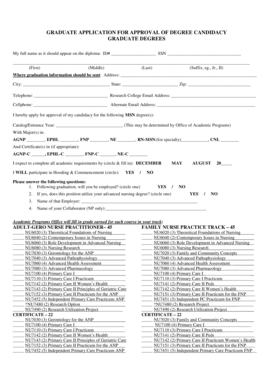 Fillable Online researchcollege DEGREE CANDIDACY FORM 2014