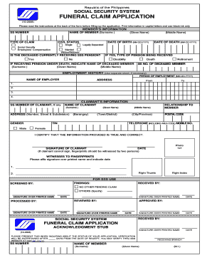 Ecc Form Sss Fill Online Printable Fillable Blank