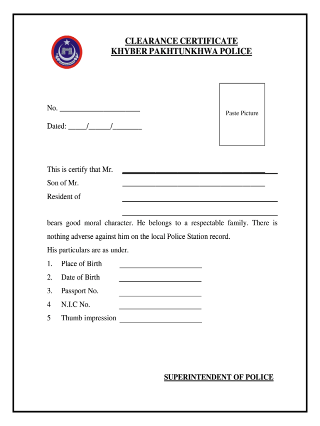 Police Verification - Fill Online, Printable, Fillable, Blank