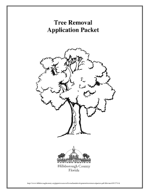 Fillable Online Tree Removal Application Packet